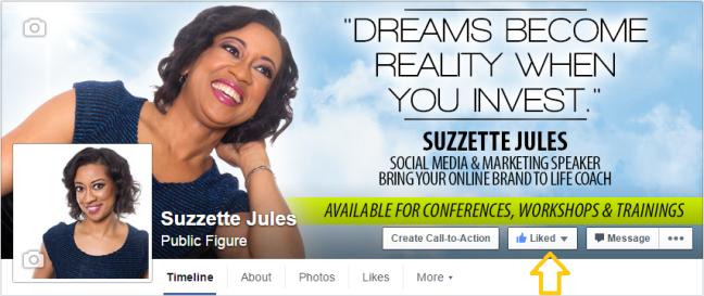Suzzette Jules Public Page Screenshot